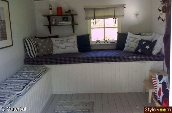 sofa,friggebod sommarstuga