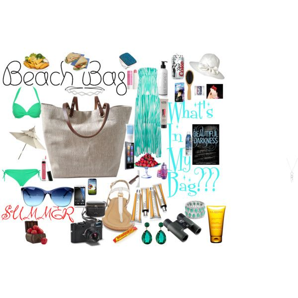 """""""What's in My Beach Bag"""" by angeldiamond on Polyvore"""