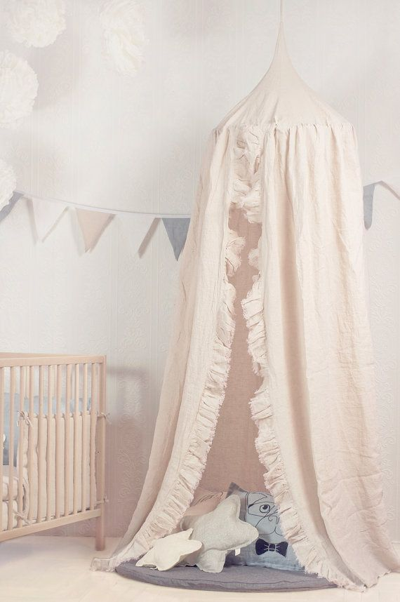 17 best ideas about canopy over crib on pinterest girl for Hanging canopy over bed