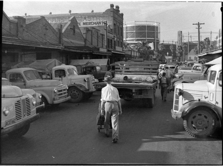 Market St Newcastle  nsw old days