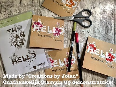 Stampin'Up demonstrator Creations by Jolan: Coloring the beautiful Stampin'Up Floral Statements stampset.