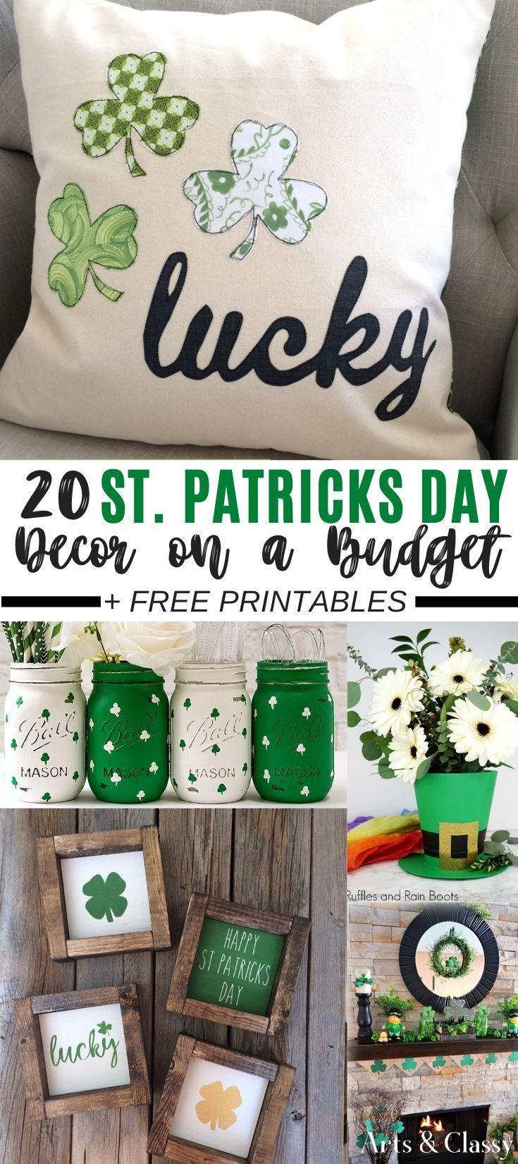 St Patricks Day Decor Ideas Free Printables Arts And Classy St Patrick S Day Decorations St Patrick S Day Diy St Patrick S Day Crafts