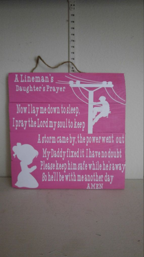 Lineman's Daughter's prayer by CrackerChild on Etsy