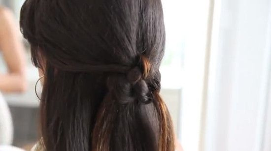 Half up half down hairstyles with a twist! Learn 4 new looks here: http://www.latest-hairstyles.com/trends/half-up-half-down-hairstyles.html