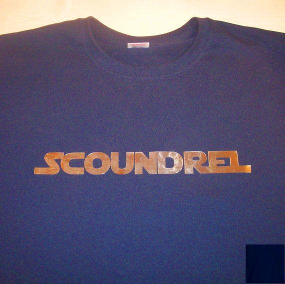 Scoundrel Han Solo Star Wars themed tshirt by GelertDesign, £12.00