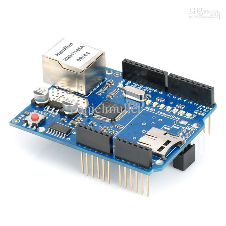 Wholesale - Ethernet W5100 Shield Network Expansion Board w/ Micro SD Card Slot for Arduino