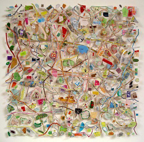 """Qinghai (Map Square)"", 2007 by Chris Kenny"
