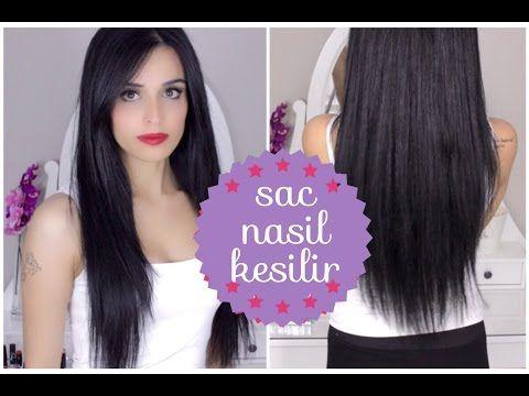 Evde katlı saç kesimi - YouTube