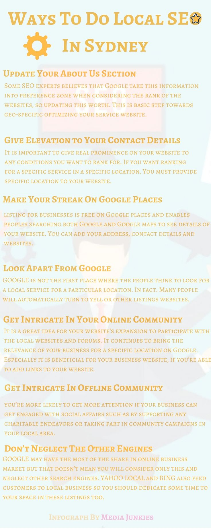 An effective local search engine optimization campaign begins by using specific keywords to target the subjects which aim your website to rank higher on search engine. Most people who are internet brainy would probably assume it is much easier to do SEO  themselves hiring any SEO expert. In some cases this may work but in most of the cases it is proved as less effective for web business.