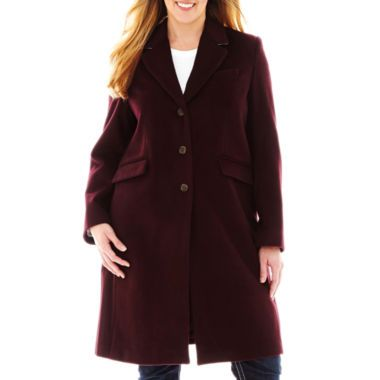 Liz Claiborne® Wool-Blend Chesterfield Coat - Plus  found at @JCPenney