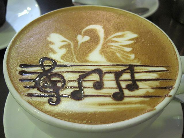 Musical Score Coffee Art Design // Creative 3D Coffee Latte Art Pictures, Images & Designs