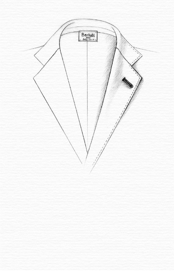 MILANESE BUTTONHOLE A lapel buttonhole which is whipstitched, differentiating it from the other buttonholes.
