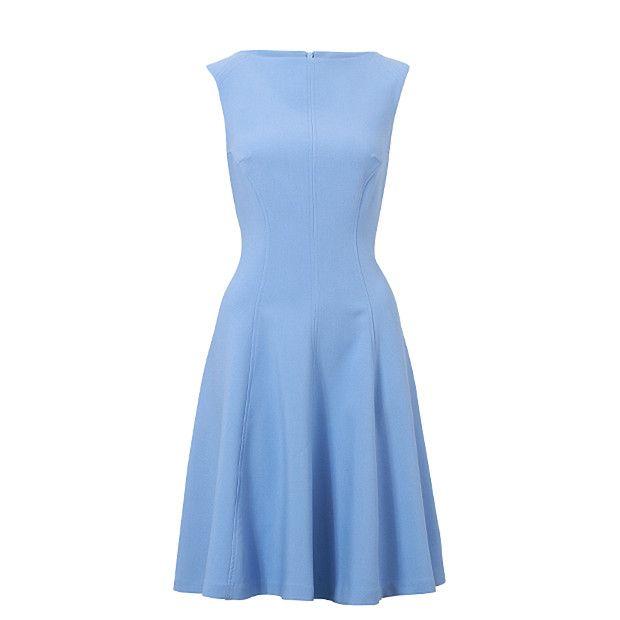 Seam Detail Skater Dress - Blue