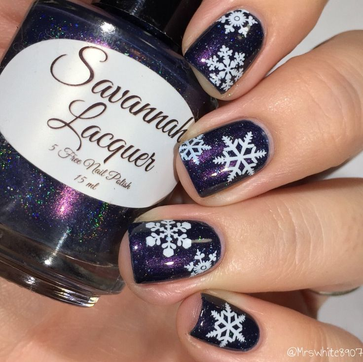 Christmas Nail Art Blue and White Snowflakes Nail Water Decals