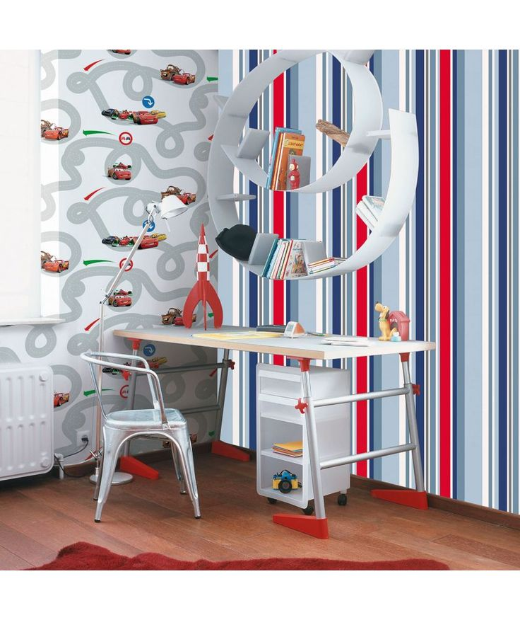 Graham And Brown Wallpaper   Kids Long Island Stripe Blue At Argos.co.uk