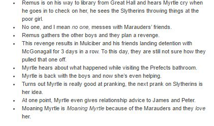 The Marauders and Myrtle part 2