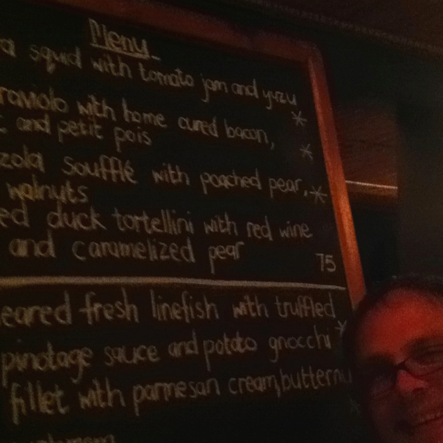 Terroir menu! 3,5 years ago, we couldn't afford it. We've come back now because finally we can and they're having a huge winter warmer special!