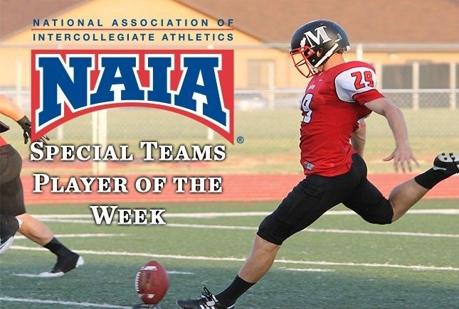 Phillips Named NAIA Football National Special Teams Player of the Week