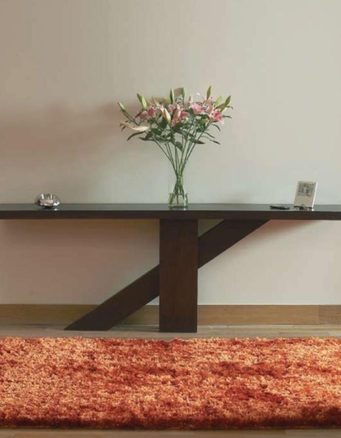 Alfombra AGATA COPPER Packs de 2 alfombras modelo Agata Copper.  Composición: 100 % poliésterfino arrugado, calidad crinkled Moire.  Altura del pelo: 90MM+/-5%  Forro exterior: 100% algodón.  Forro interior: 100% PP  Látex: base de agua.  Tufting manual.  Muy suave al tacto.  Sus dimensiones son: 70x140 cm.  Mantenimiento: Limpieza en seco   Fabricante: FELIX BELSO  Plazo de entrega: 15 día(s)