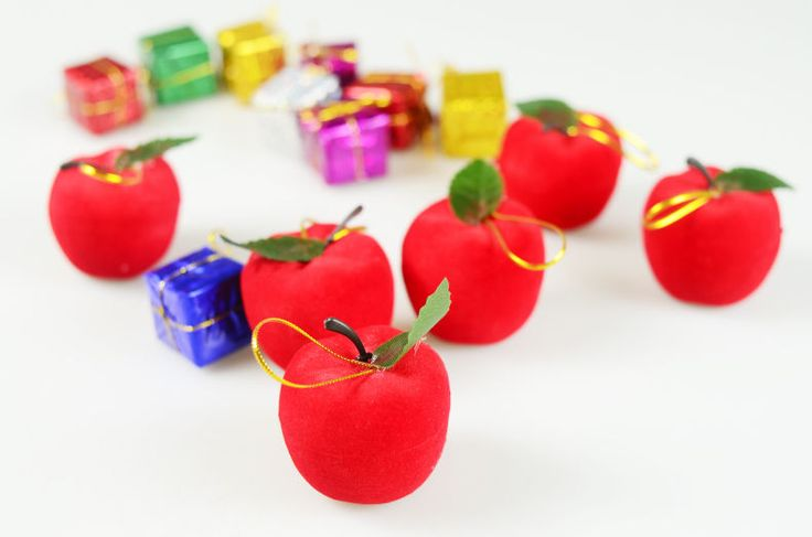 Christmas Ornaments----6 Diameter 5 cm Red Foam Apples(Buy Two Get Third Free) #Unbranded