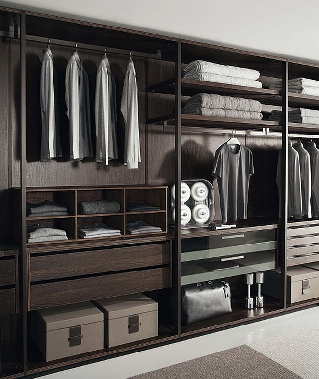 Closet structure of Pass allows it to be used as a freestanding unit in multiple settings