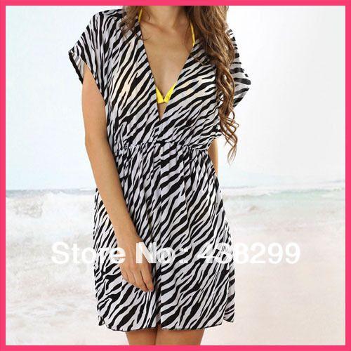 Verano 2014 sexy zebra cubierta elástica de ups traje de baño bikini brasileño ropa de playa de hielo de seda vestido de traje de baño de hawai c-004