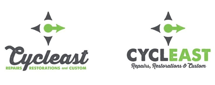 Cycleast-Repairs-Restorations-Custom-Bicycles-Bikes-Shop-Store-East-Austin-Russell-Pickavance-Logo-Lockups-Letter-C-Compass