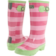 Pink Stripe Boots by Hatley