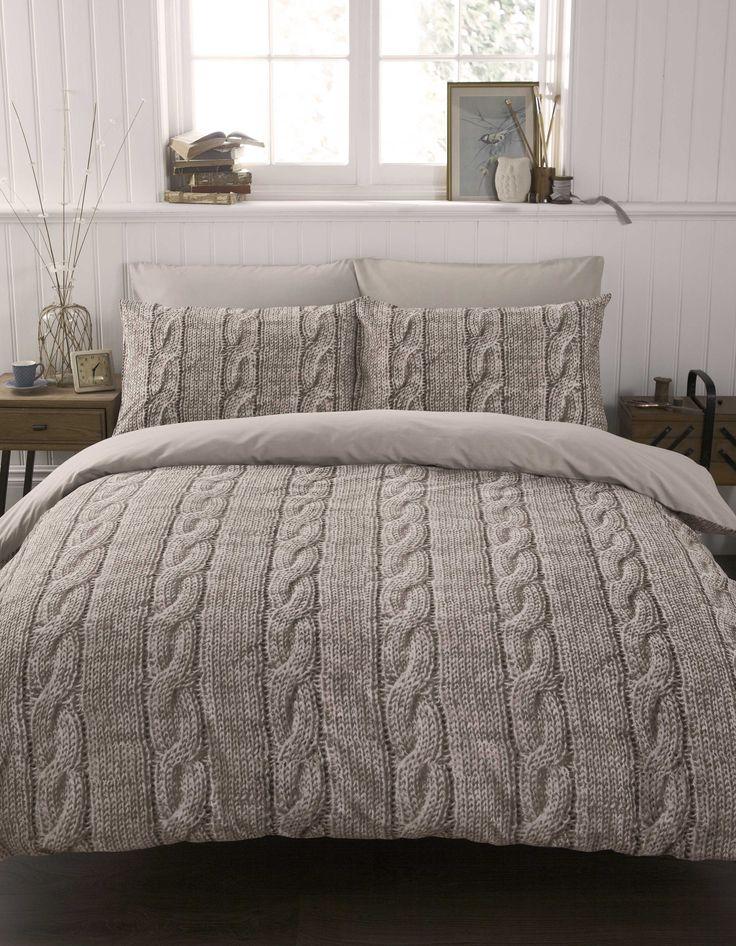 Cable Knit Duvet Cover. Um yes please.