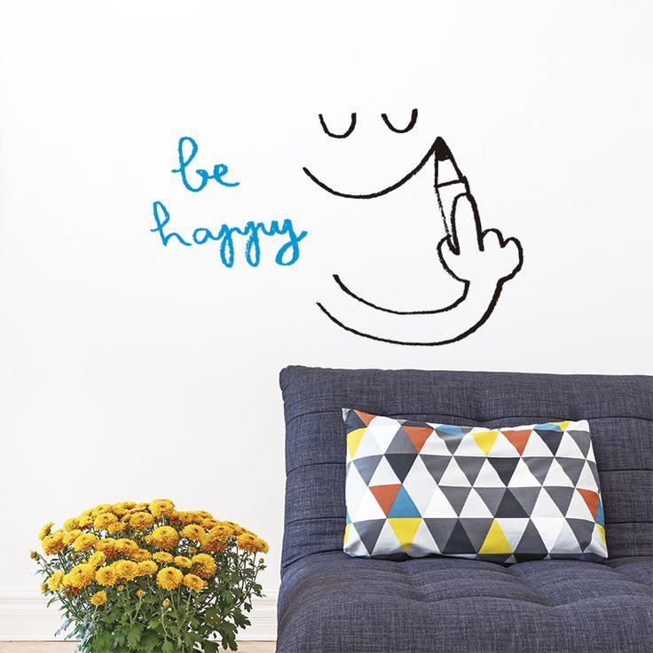 Vinilo Chispum Be Happy by Javirroyo ::: Chispum wall sticker Be Happy by Javirroyo