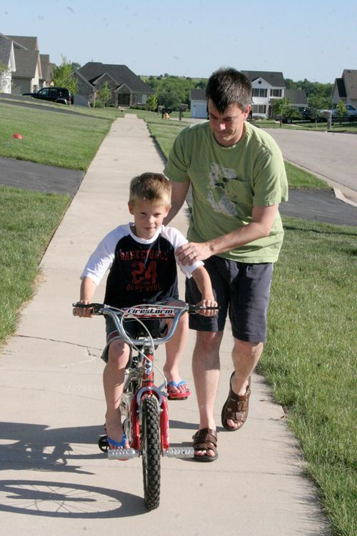 learning to ride a bike with Dad...