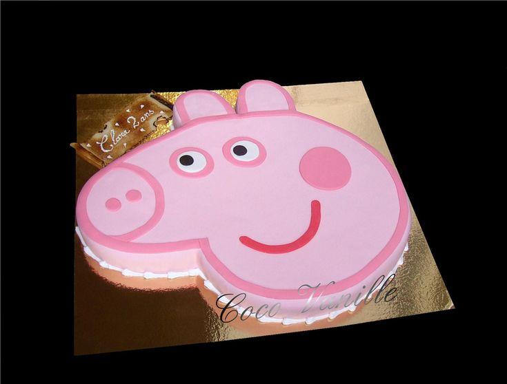Gâteau PEPPA PIG Framboisier