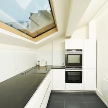 Bespoke Lumen EVO skylights used to convert this luxury London apartment