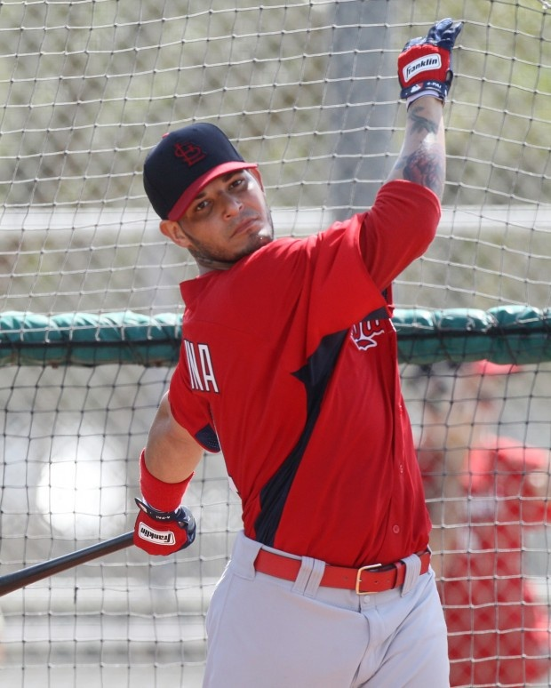 Cardinals spring training...what an awesome pic of Yadi