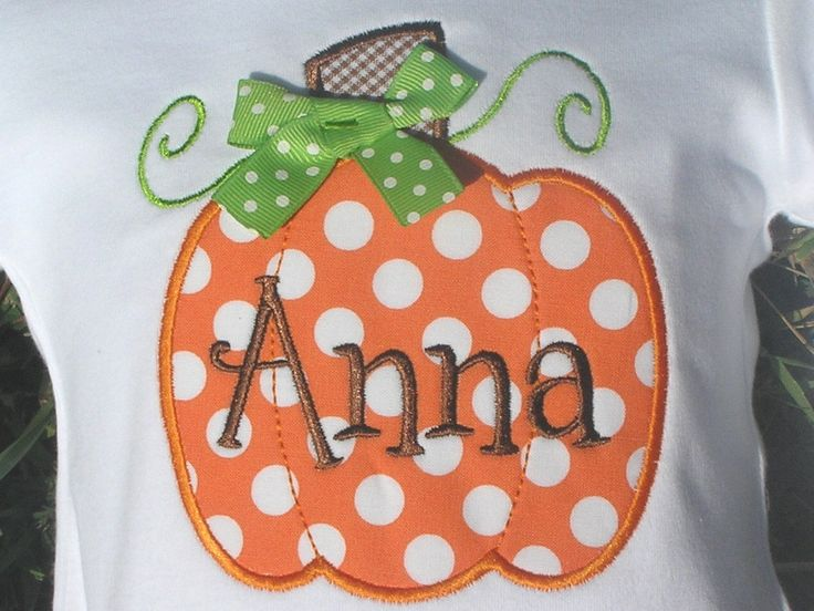 Personalized Pumpkin Shirt or onesie by juliesonny on Etsy https://www.etsy.com/listing/109104655/personalized-pumpkin-shirt-or-onesie