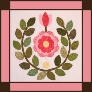 Sycamore Hills Rose quilt, block #2 ~ with free pdf pattern