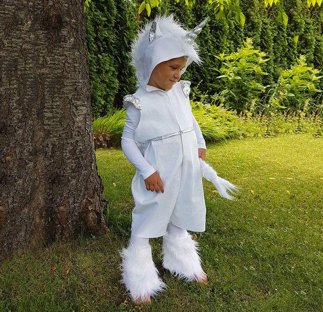 Kostüme für Kinder - Kostüm Einhorn 110/116 4-5 Jahre Faschingskostüm - ein Designerstück von ELEMENTS-design bei DaWanda