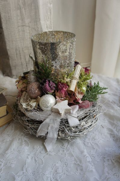 """Adventsdeko """" Rosenlicht...."""" von Trödelliebelei.... auf DaWanda.com"""