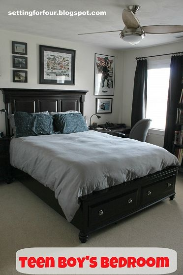 This bed from Haverty's like it to go with other pin . not for teen boys room