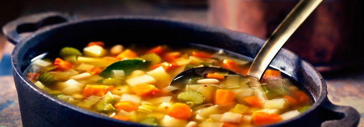 Soupe hivernale aux légumes et aux haricots