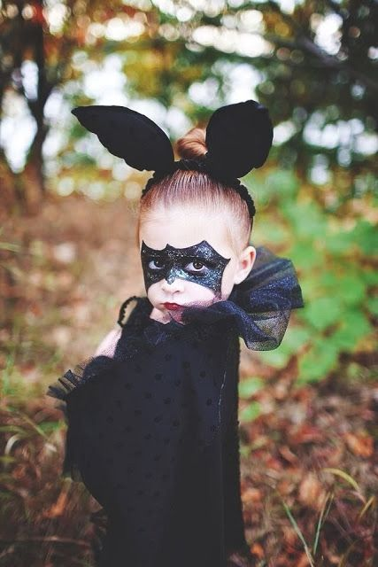 Leah, Kayla want to hang upside down next Halloween. I can make the wings and ears and I know your Mom can do the Miami makeup mask for you. Idea from Bubbles on my planet: trick or treat?
