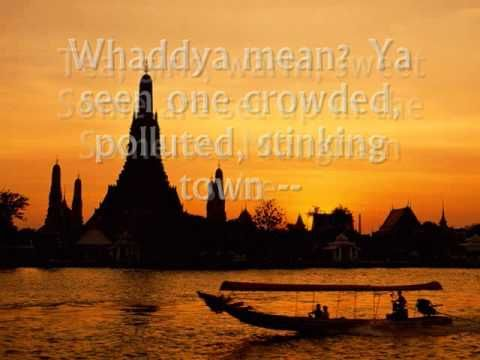 One Night in Bangkok - Murray head [w/ lyrics] GingerAnn and I loved this song no Cabo Wabo needed, from the great Murray Head the original Judias from Jesus Christ Superstar..... I get my kicks above waistline, sunshine