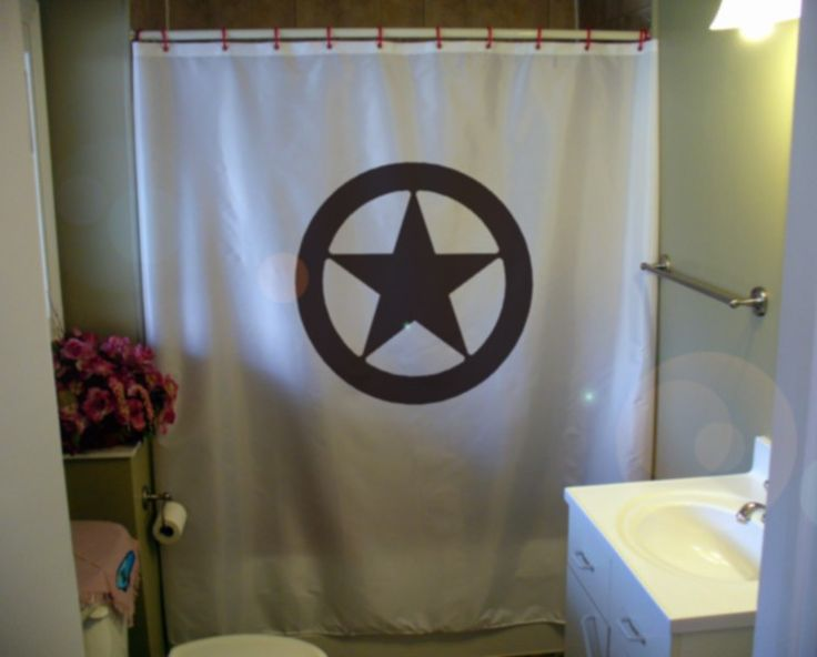 Texas Shower Curtain Star Circle Lone Star State By Eternalart, $52.00