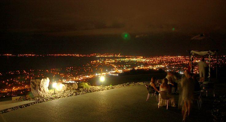 Rotorua city night view from Aorangi Peak
