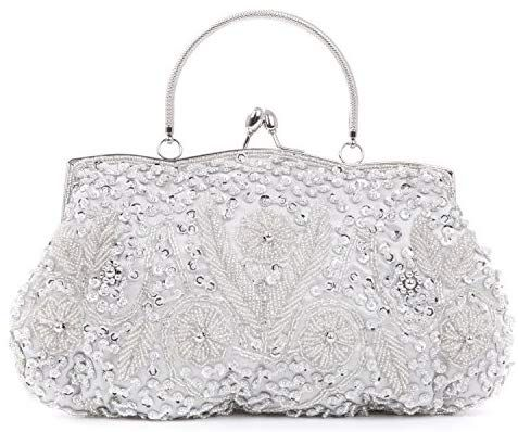 New UK Ladies Hand Bag Diamante Evening Clutch// Women's Prom Wedding Party Purse