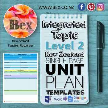 21 best classroom teacher planning templates new zealand images on new zealand integrated topic unit plan template level 2 nzc fandeluxe Image collections