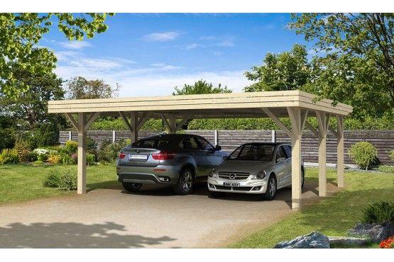 Le carport Bréhat fait office de garage et d'espace de rangement à la fois. Ce carport trouvera facilement une place dans votre cour ou jardin. De fabrication française, construit en bois massif, les emboîtements sont réalisés suivant la...