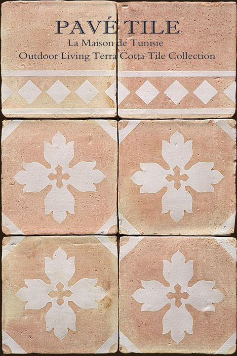 Pav Tile Stone Inc Outdoor Living Terra Cotta Tile La Maison De Tunisie Moresque Outdoor