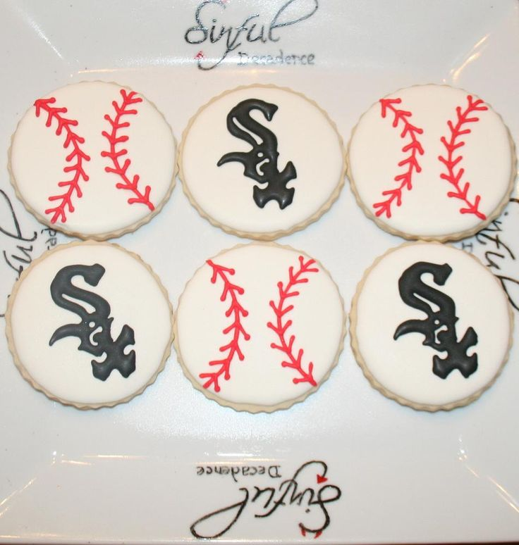 White Sox Baseball Cookies