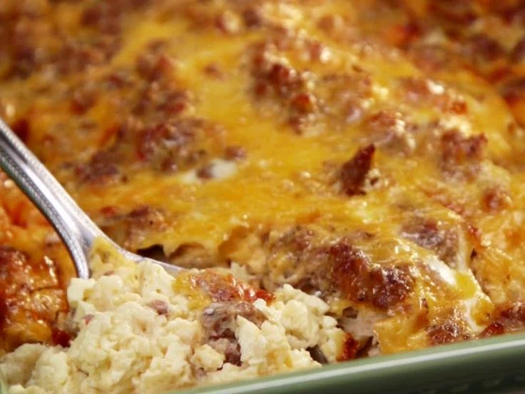 Breakfast Casserole from Paula Dean Add red bell pepper, onion, and mushroom use the brown Jimmy Dean breakfast sausage from target